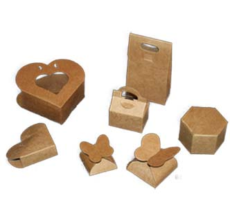 Embalagens de papel kraft para lembrancinhas