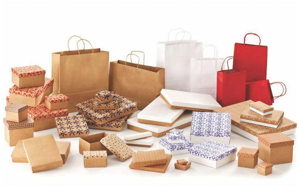 Fábrica de embalagem de presente